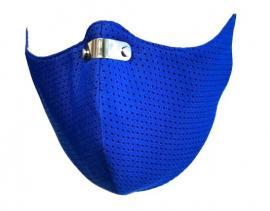 RespiShield Επαναχρησιμοποιούμενη Μάσκα Μακράς Διαρκείας [PM2.5. PM10] Μέγεθος:M 1 Τεμάχιο [Μπλε]