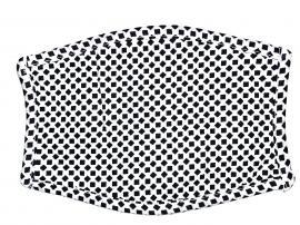 Μάσκα προστασίας αναπνοής, xl, πλενόμενη, λευκή πουά τετράγωνα, 1τμχ