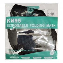 Μάσκα Προστασίας Non-Medical GB2626-2006 KN95 Μαύρη 1τμχ