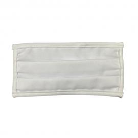 Μάσκα Προστασίας Από Ιούς Και Λοιμώξεις Υφασμάτινη Και Πλενόμενη Λευκή, 1τμχ