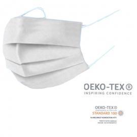Μάσκα προστασίας αναπνοής πλενόμενη OEKO-TEX STANDARD 100 Λευκό Χρώμα (1 τεμάχιο)
