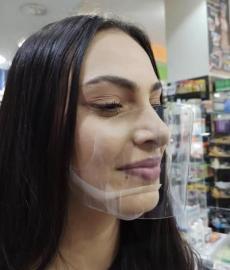 Elegant Μάσκα Προστασίας Στόματος & Μύτης Από Διάφανο PET Προσωπίδα για Μύτη και Στόμα 1 Τεμάχιο
