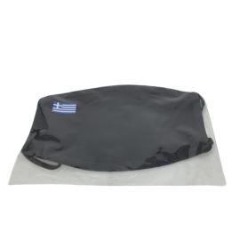 Μασκα Β4 100% Υφασματινη Μαυρη με ελληνικη σημαια