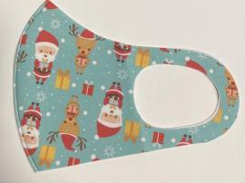 Classic Mask Υφασμάτινη Μάσκα Ενηλίκων Βαμβακερή Με Χριστουγεννιάτικο Σχέδιο 1 Τεμάχιο
