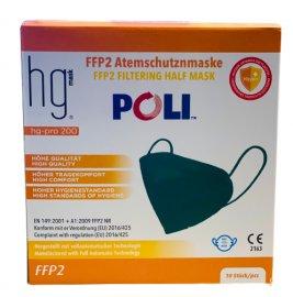 HG Poli FFP2 NR Πράσινες Μάσκες Χωρίς Βαλβίδα Εκπνοής 10 Τεμάχια σε Κουτί