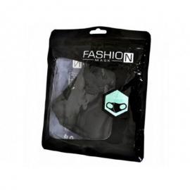 Μασκα Fashion Βαμβακερη Μαυρη 1 τμχ
