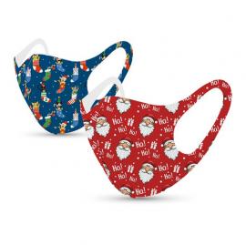 Tili Μάσκες Προσώπου Πολλαπλών Χρήσεων Χριστουγεννιάτικες Μάσκες με Σχέδιο Άγιο Βασίλη – Κάλτσες με γάτες 2τμχ