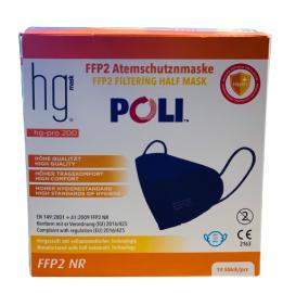 HG Poli FFP2 NR Μπλε Μάσκες Χωρίς Βαλβίδα Εκπνοής 10 Τεμάχια σε Κουτί
