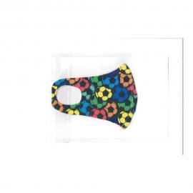 Nano υφασμάτινη παιδική μάσκα με ραφή πολλαπλών χρήσεων πολύχρωμες μπάλες