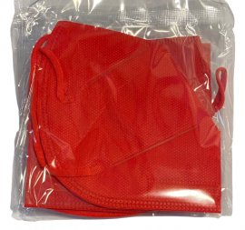HG Poli FFP2 NR Κόκκινο Μάσκες Χωρίς Βαλβίδα Εκπνοής 5 Τεμάχια