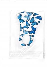 Nano Υφασμάτινη Παιδική Μάσκα με Ραφή Πολλαπλών Χρήσεων Μπλε Πεταλούδες