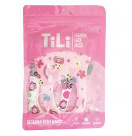 Tili Μάσκες Προσώπου Παιδικές Πολλαπλών Χρήσεων Πολύχρωμες με Σχέδια για Kορίτσι 2τμχ