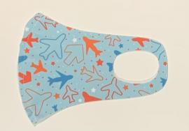 Nano Υφασμάτινη Παιδική Μάσκα Προσώπου Με Ραφή Πολλαπλών Χρήσεων Αεροπλάνα 1 Τεμάχιο