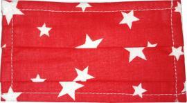 Flost Υφασμάτινη Μάσκα Υγιεινής Κόκκινη με Αστέρια για Παιδιά 3-7 χρονών 1τμχ