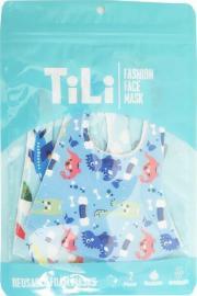 Tili Μάσκες Προσώπου Παιδικές Πολλαπλών Χρήσεων Πολύχρωμες Αεροπλάνο - Δεινόσαυρος για Αγόρι 2 τμχ