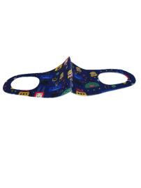 Tili Reusable Face Mask Παιδικη Μπλε Εξωγήινοι διάστημα 2τμχ