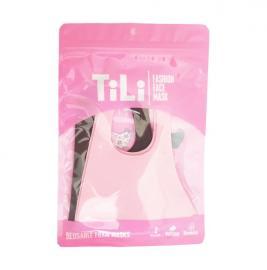 Tili Μάσκες Προστασίας Προσώπου Παιδικές Πολλαπλών Χρήσεων Pοζ-Μαύρη 2τμχ