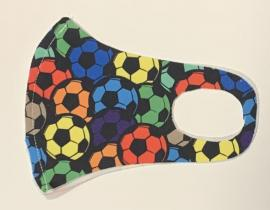 Nano Υφασμάτινη Παιδική Μάσκα Προσώπου Με Ραφή Πολλαπλών Χρήσεων Πολύχρωμες Μπάλες 1 Τεμάχιο