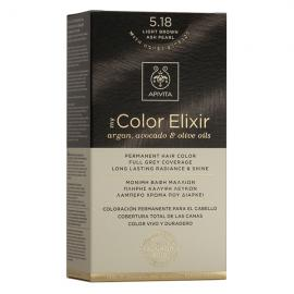 APIVITA My Color Elixir, Βαφή Μαλλιών No 5.18 - Καστανό Ανοιχτό Σαντρέ Περλέ