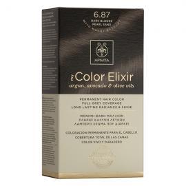 APIVITA My Color Elixir, Βαφή Μαλλιών No 6.87 - Ξανθό Σκούρο Περλέ Μπεζ