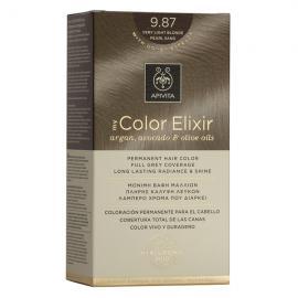 APIVITA My Color Elixir, Βαφή Μαλλιών No 9.87 - Ξανθό πολύ ανοιχτό περλέ μπεζ