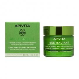 APIVITA Bee Radiant Κρέμα Gel Ελαφριάς Υφής  με Λευκή Παιώνια - 50ml