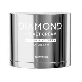 FREZYDERM Diamond Velvet Moisturizing Cream, Ενυδατική Κρέμα Προσώπου για Ώριμο Δέρμα - 50ml