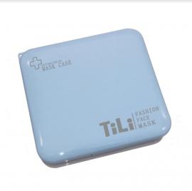 Tili Θήκη Μεταφοράς και Αποθήκευσης Μάσκας Τετράγωνη Γαλάζια 1τμχ