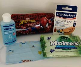 SET Back To School Προστασία Από Τον Κορωνοϊό Για Αγόρι - ΔΩΡΟ Κασετίνα Spiderman ή Avengers