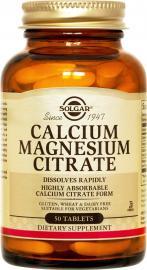 SOLGAR CALCIUM MAGNESIUM CITRATE 50TAB