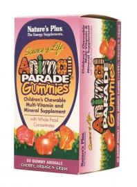 Nature`s Plus Animal Parade Gummies Assorted Flavors 50tabs