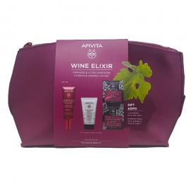 APIVITA Σετ Wine Elixir, Αντιρυτιδική Κρέμα Σύφιξης SPF30 - 40ml & Cleansing Milk 3 σε 1 - 50ml & Express Beauty Mask με Σταφύλι - 2x8ml