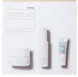 KORRES Λευκή Πεύκη Σετ White Pine Night Cream - 40ml  & ΔΩΡΟ Serum 30ml & Τσάι του Ολύμπου Αφρώδης Κρέμα Καθαρισμού - 16ml