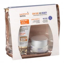 Medisei Panthenol Extra PROMO Sun Care Color SPF30 Αντηλιακό Gel Προσώπου Με Χρώμα 50ml - ΔΩΡΟ Night Cream Complex Αντιρυτιδική Κρέμα Νυκτός 50ml - Νεσεσέρ
