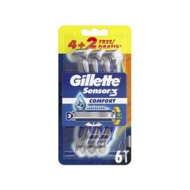 Gillette Sensor 3 Comfort Ξυραφάκια μιας Χρήσης 4+2τμχ Δώρο