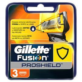 GILLETTE Fusion Proshield Ανταλλακτικές Κεφαλές 5 Λεπίδων 3 τεμ.