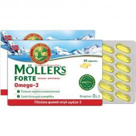 Moller's Forte Μουρουνέλαιο Μίγμα Ιχθυελαίου & Μουρουνέλαιου Πλούσιο σε Ω3 Λιπαρά Οξέα 30caps