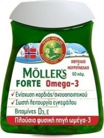 Moller`s Μουρουνέλαιο Forte Omega-3 60 caps