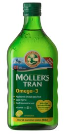 Moller's Μουρουνέλαιο Lemon Παραδοσιακό Μουρουνέλαιο σε Υγρή Μορφή με Γεύση Λεμόνι 250ml