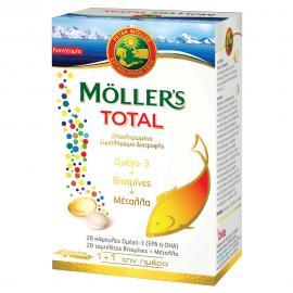 Moller`s Total Omega-3 28caps + Vitamins 28tabs