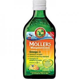 MOLLER΄S Μουρουνέλαιο Cod Liver Oil Γεύση Φρούτων 250ml
