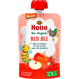 Holle Παιδικός Πουρές Μήλο Φράουλα Χωρίς Ζάχαρη 100γρ