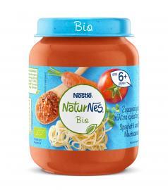 Nestle NaturNes Bio Βιολογική Παιδική Τροφή Ζυμαρικά με Σάλτσα Κρέατος από 6 Μηνών 190gr
