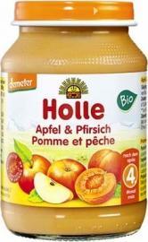 Holle Βιολογική κρέμα με Μήλο και Ροδάκινο σε Βάζο +4 Μηνών 190gr