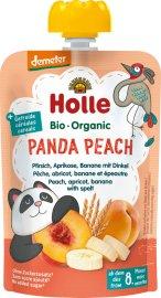 Holle Panda Peach Πουρές ροδάκινο, βερίκοκο, μπανάνα & ντίνκελ 8m+ 100gr