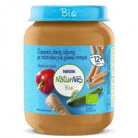Nestle Naturnes Bio Παιδική τροφή από 12 μηνών, ζυμαρικά ολ.άλεσης με παστινάκη & γλυκιά πιπεριά 190g