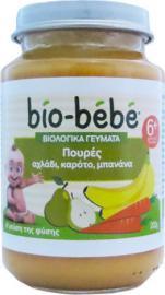 Bio Bebe Βιολογικά Γεύματα Πουρές Αχλάδι, Καρότο, Μπανάνα 200gr