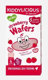 KIDDYLICIOUS ΡΥΖΟΓΚΟΦΡΕΤΑ ΦΡΑΟΥΛΑ Strawberry Wafers, κατάλληλα από τον 6ο Μήνα, 20gr