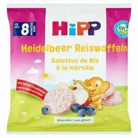 Hipp  Ρυζογκοφρετάκι Μήλου & Βατόμουρου (15τμχ) 30gr