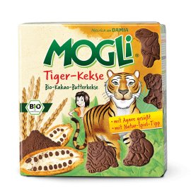 Mogli - Tiger - Kekse Παιδικά μπισκοτάκια με κακάο 125gr